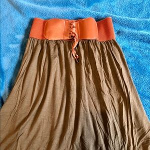 Skirts - Olive High-Low Skirt